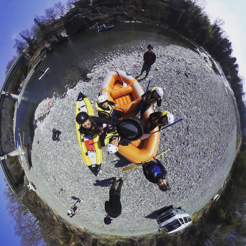 ラフティングスタート地点360度画像