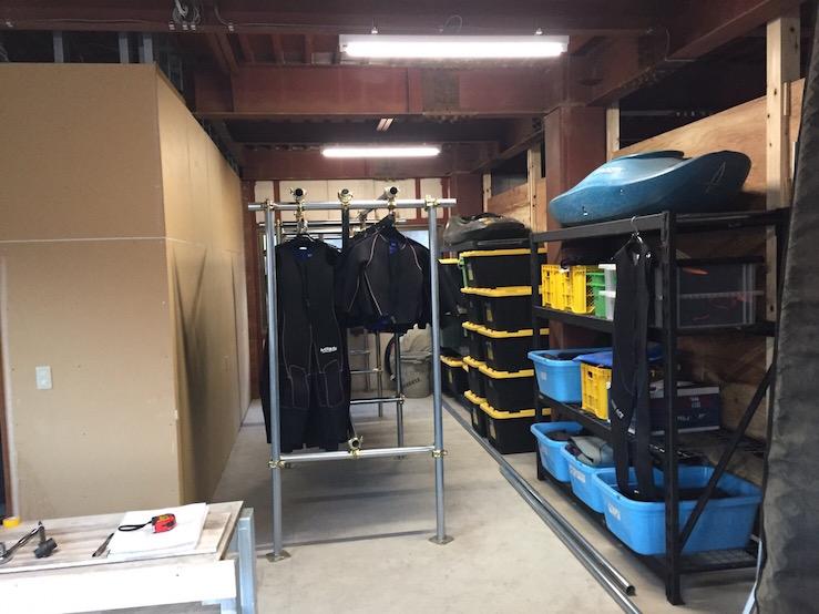 ラフティング装備品倉庫
