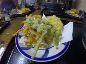 二松庵の天ぷら