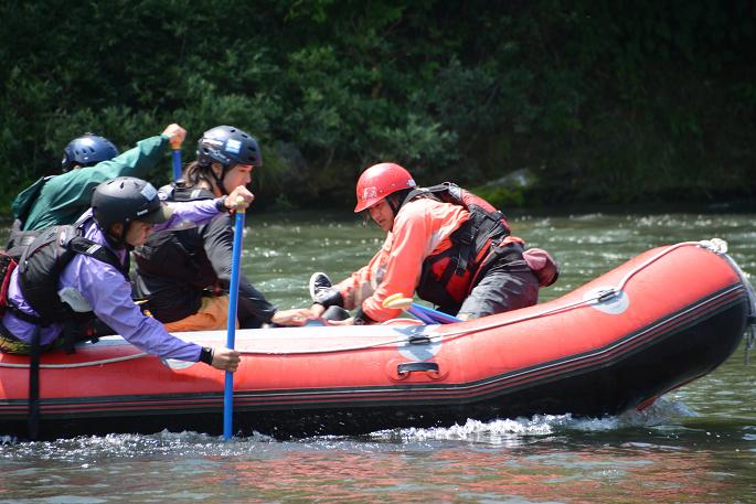 ボートでの救助