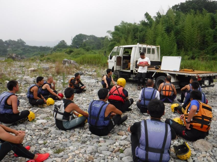 DSR河原での講習風景