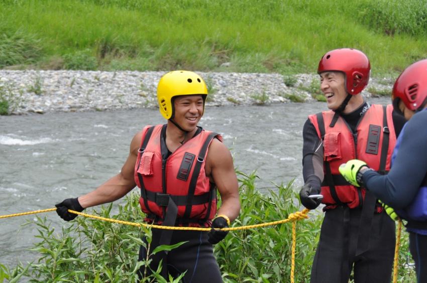 スローロープ救助