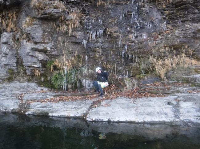 岩畳あたりの氷柱