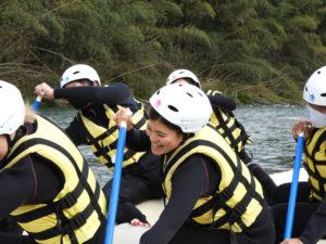 漕ぎ方の練習の様子