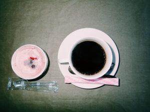 コーヒーとカシスジェラート